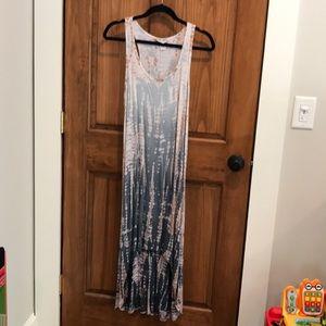 Hard tail hi-Lo racer back dress, size small